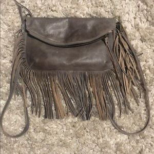 Handbags - Chen & Derington Brown Fringe Crossbody Purse